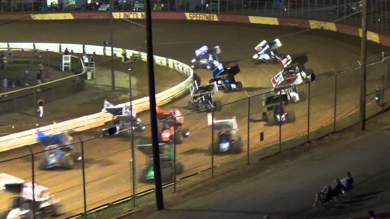 Lincoln Speedway 410 Sprint Car Highlights 2-25-12 - YouTube