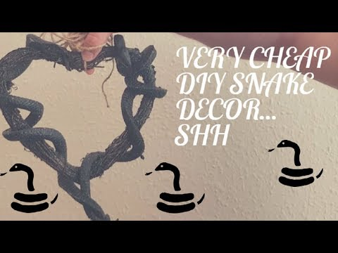 Gothic DIY Decoration Snakes and Wood Wreath A cheap and easy addition to your home for under £10
