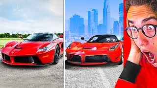 GTA 5 vs. REAL LIFE LAFERRARI SUPER CAR CHALLENGE!