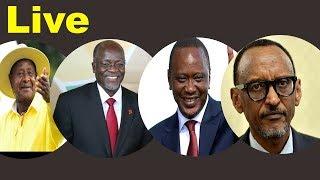 #LIVE  Rais Magufuli, Kenyatta, Museveni, Kagame Uso kwa Uso Arusha.