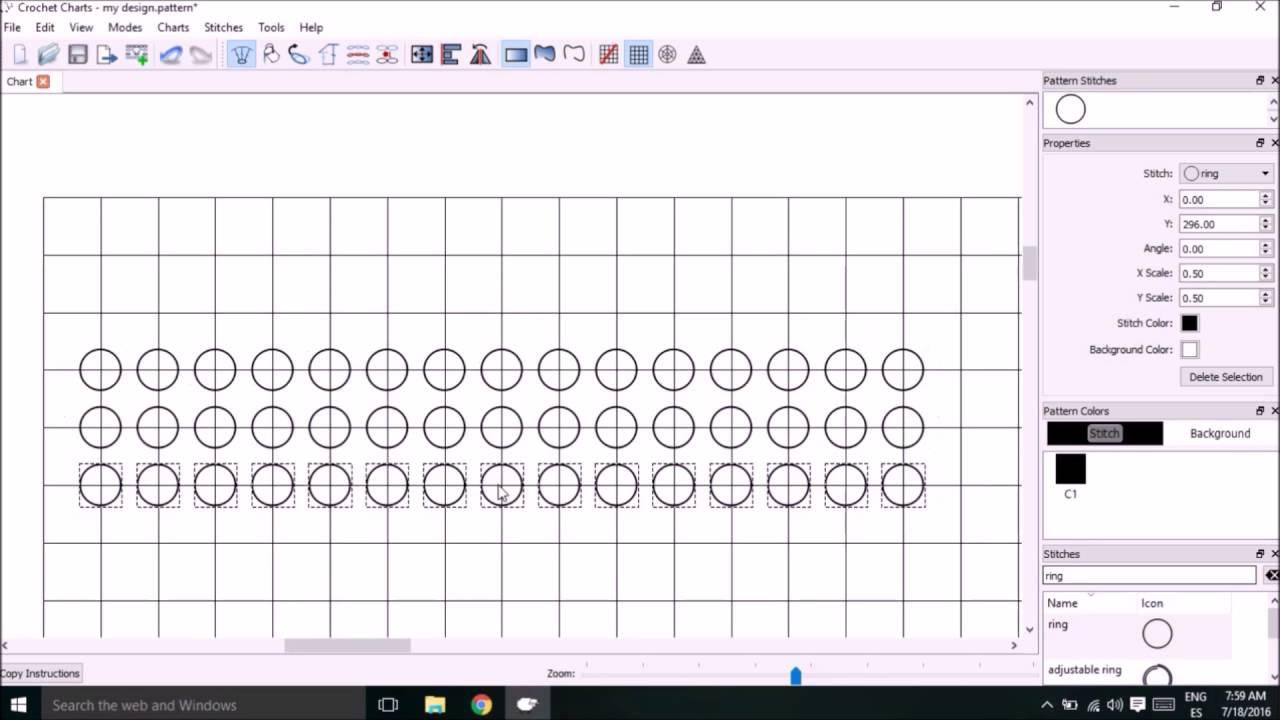 How to make tapestry crochet patterns using stitchworks software how to make tapestry crochet patterns using stitchworks software part 1 youtube ccuart