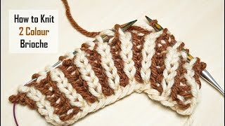 How to Knit: 2-Colour Brioche Stitch   Knitting Pattern   Cosy & Reversible   Slow Demo
