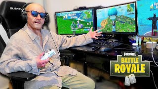 This 100 Year Old Man Played Fortnite & WON! (My Grandpa is a PRO)