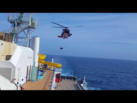 Carnival Pride Coast Guard Rescue Feb 13,2018