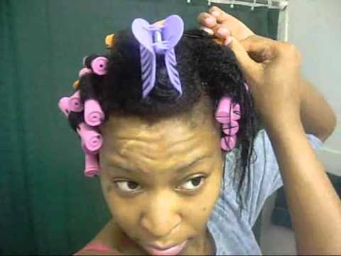 Natural Hair Journey Cold Wave Rod Set On Wet Hair Youtube