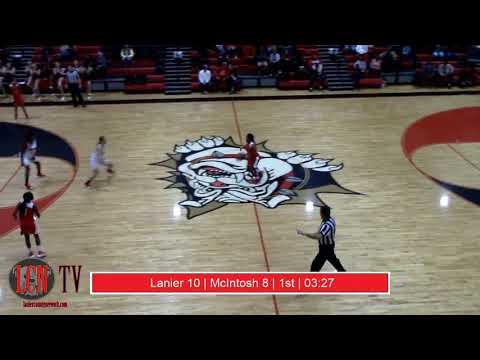 Lanier County Lady Dawgs Basketball Vs McIntosh Academy