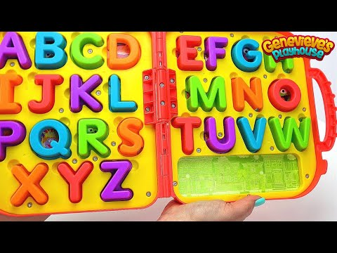 Thumbnail: Best Learning Videos for Kids Smart Kid Genevieve Teaches toddlers ABCS, Colors! Kid Learning Fun!
