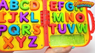 Genevieve Teaches Kids with Alphabet Puzzle and Rainbow Candy!