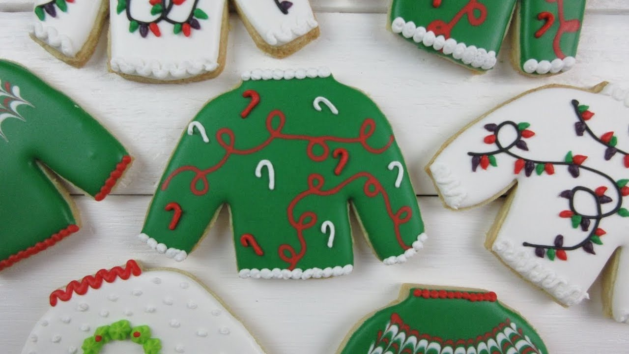 How To Make Ugly Christmas Sweater Cookies Youtube