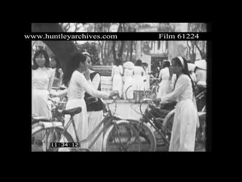 Vietnamese Refugees from Hue, 1968.  Archive film 61224