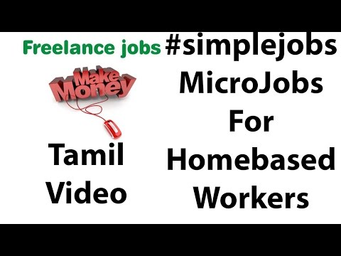 Simple Freelance Jobs| Tamil Video|
