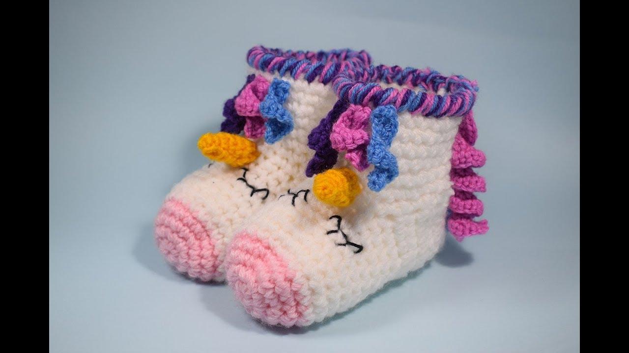 Peucos a crochet unicornio muy fácil y rápido todas las tallas - YouTube