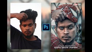 Photoshop Manipulation Tutorial // How To Create Spider Man  Poster // Easy By // Sony Jackson