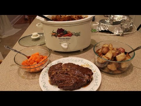 Mukbang, Roast Beef Cooked in A Crock Pot, Stories Too