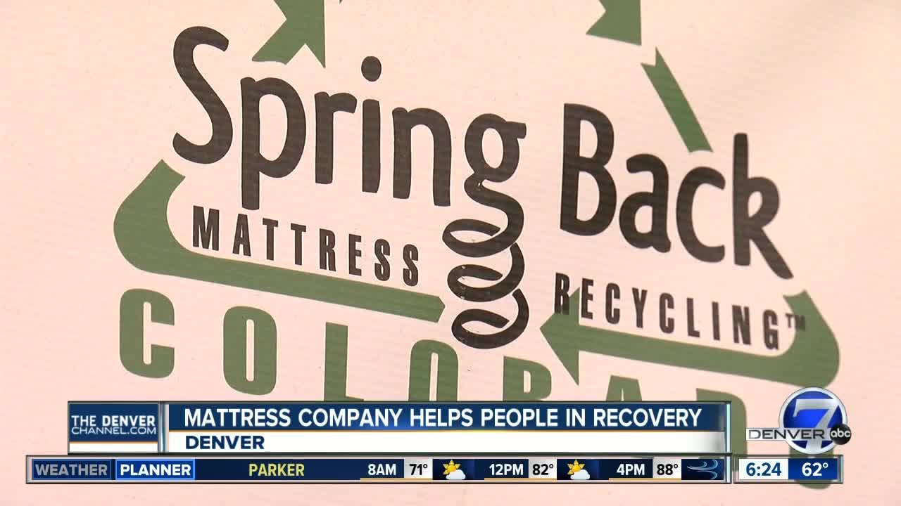 mattress recycling company helps former addicts - Denver Mattress Company