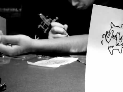 Radiohead Self Tattoo. Crying Minotaur From Kid A Album!
