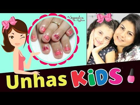 Unhas KIDS (como fazer unhas de criança) Segredos de Manicure......