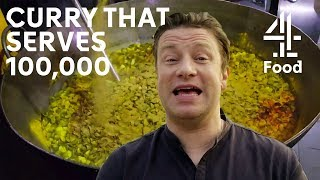 Making Curry for 100,000 People in a Day! | Jamie's Meat-Free Meals