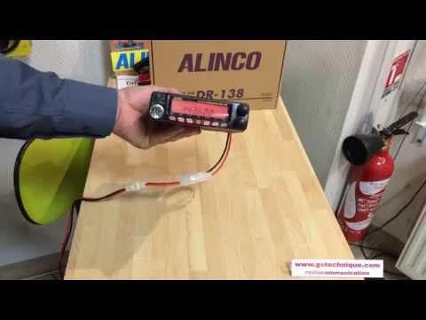 DR138 ALINCO Radio VHF 60 Watts presentation GoTechnique com