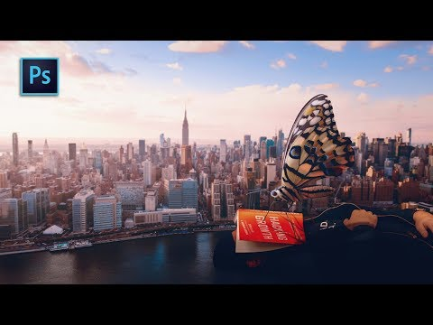 Giant Man and Big Butterfly | Photoshop Manipulation Tutorial thumbnail