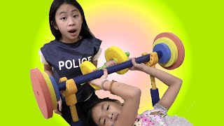 Pretend Play Police Training to Become Stronger