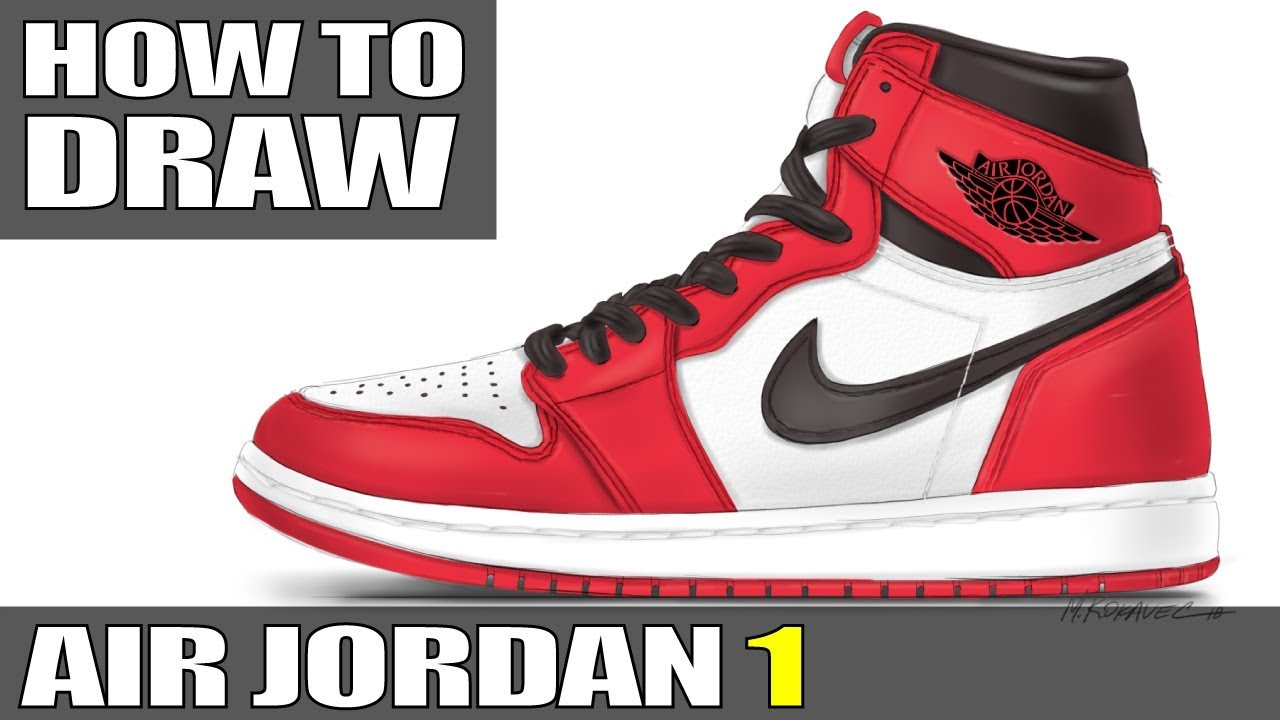 top fashion 86d4d 6f098 How to Draw  Air Jordan 1 (Part One)