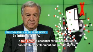 World Press Freedom Day 2019 (3 May) - Message from UN Secretary-General thumbnail