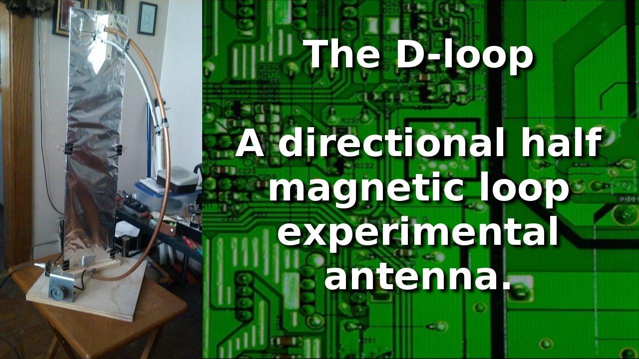 Ham Radio - D loop directional half loop transmitting antenna   (experimental)