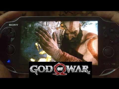 God of War (2018) on PS Vita! - PS4 Pro Remote play - OLED - 4K - Intro!