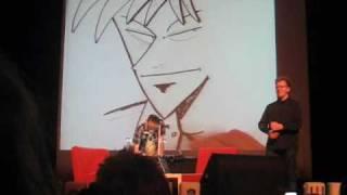 Nobuyuki Fukumoto draws Kaiji and Akagi, Desucon @ Lahti, Finland 12-13.2010 2/2