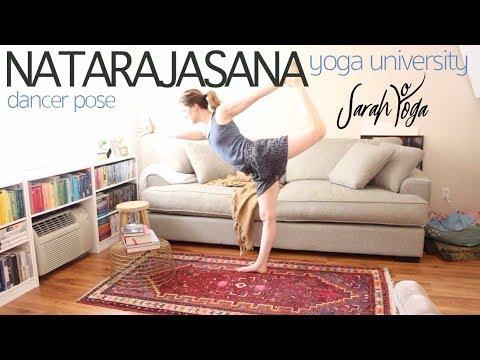 yoga university  dancer pose natarajasana  youtube