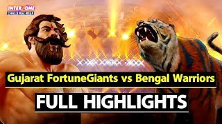 Watch: Pro Kabaddi League: Gujarat Fortune Giants Beat Bengal Warriors By 35-23