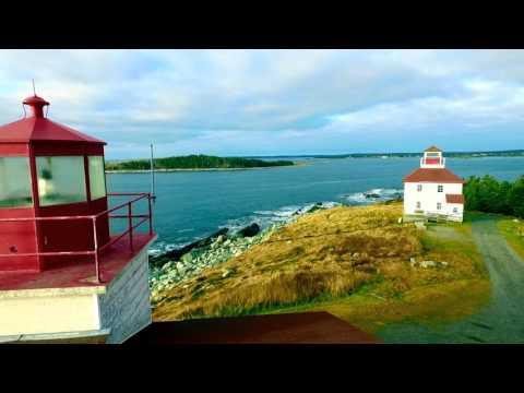 Port Bickerton Lighthouse(s), Nova Scotia, Canada, via DJI Phantom 3 drone (#LighthouseProject)