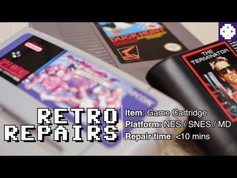 Retro Repairs: Cleaning Cartridges (NES / SNES / MD)