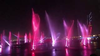 Dubai Festival City fountain show