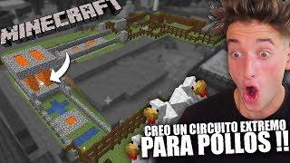 CREO UN CIRCUITO EXTREMO PARA POLLOS!!  | MINECRAFT PARTE 10 BYTARIFA GAMING