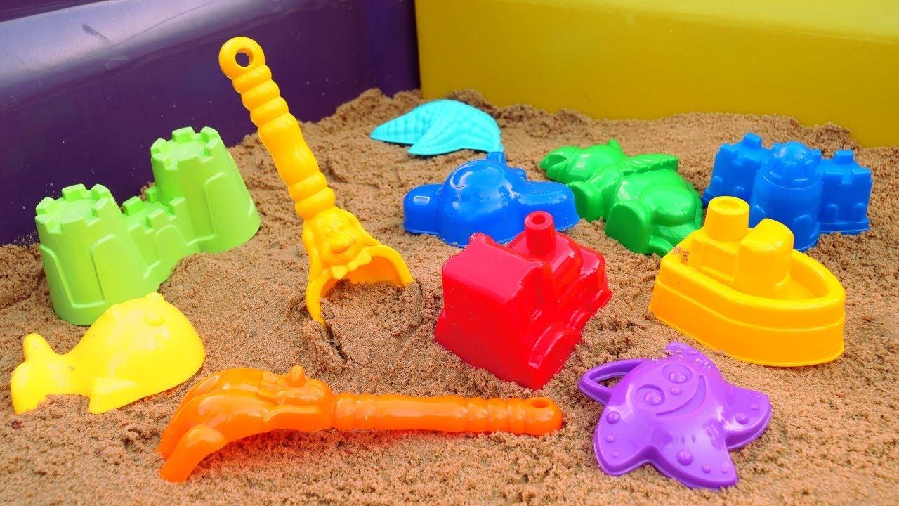 Для самых маленьких. Развивающие мультики для малышей. Строим песочницу и учим цвета