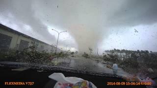 台南永成路 龍捲風受害者原版實際行車紀錄器拍攝