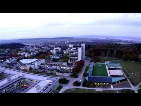 ETH Zurich Honggerberg and city from drone