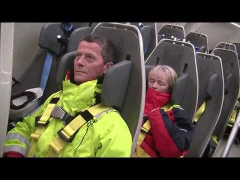 Free-fall lifeboat training at Norsafe Academy Rosendal