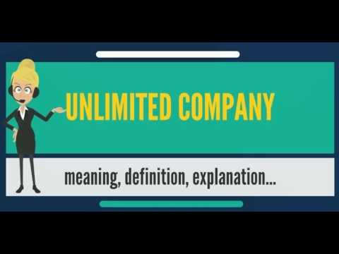 What is UNLIMITED COMPANY? What does UNLIMITED COMPANY mean? UNLIMITED COMPANY meaning