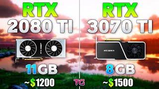 RTX 3070 Ti vs RTX 2080 Ti - Test in 10 Games