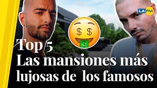 Maluma, J Balvin y Shakira con las mansiones más lujosas