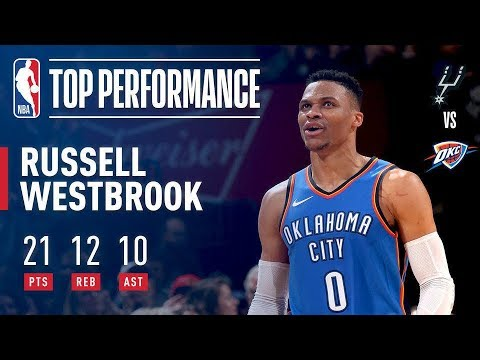 "Russell Westbrook Says ""Why Not"" & Notches Another Triple Double vs The Spurs"