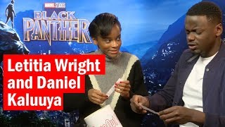 Letitia Wright and Daniel Kaluuya | Black Panther Bucket of Questions