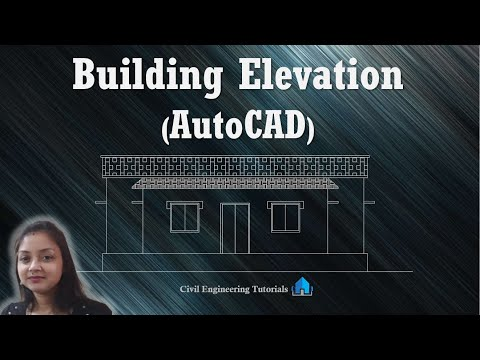 How to Draw Building Elevation in AutoCAD ||  Front Elevation