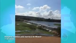 Barragem das pedrinhas em Limoeiro do Norte voltou a sangrar neste sábado 11 Janeiro de 2020.