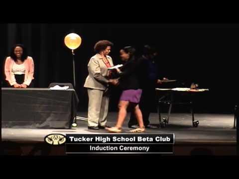 Tucker Beta Club Induction Ceremony