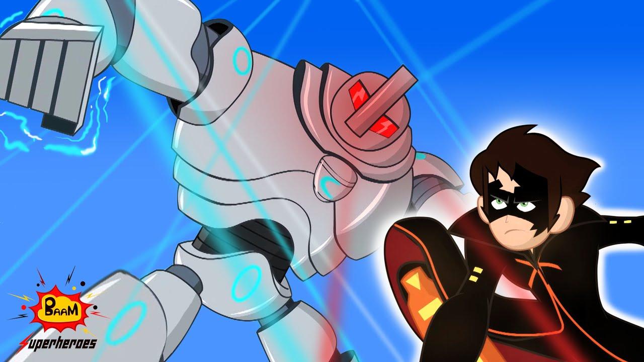 Kid Krrish English| Robotic Adventure Fun |Cartoons for Kids | Videos for Kids @BAAM Superheroes 