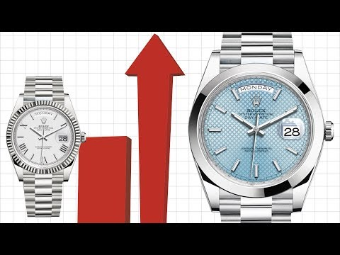 Rolex Day Date Platinum Double The Price Of White Gold